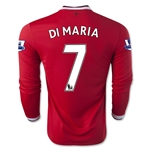Manchester United 14/15 DI MARIA LS Home Soccer Jersey