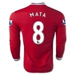 Manchester United 14/15 MATA LS Home Soccer Jersey