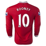 Manchester United 14/15 ROONEY LS Home Soccer Jersey