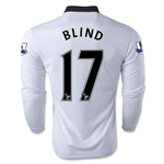 Manchester United 14/15 BLIND LS Away Soccer Jersey