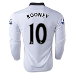 Manchester United 14/15 ROONEY LS Away Soccer Jersey