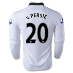 Manchester United 14/15 V. PERSIE LS Away Soccer Jersey
