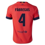 Barcelona 14/15 FABREGAS Youth Away Soccer Jersey