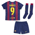 Barcelona 14/15 SUAREZ Kids Home Soccer Kit