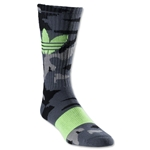 adidas Originals Camo Trefoil Sock (Black/Yellow)