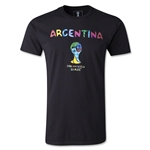 Argentina 2014 FIFA World Cup Brazil(TM) Limited Edition Britto T-Shirt (Black)