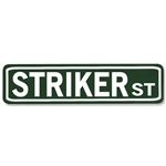 Striker Street Sign