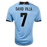 Spain 12/13 David Villa Away Soccer Jersey