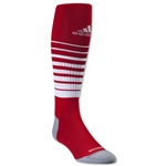 adidas Team Speed Soccer Sock Irregular 3 Pack (Sc/Wh)