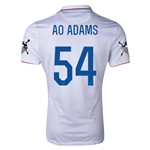 USA 14/15 American Outlaws AO ADAMS Home Soccer Jersey