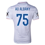 USA 14/15 American Outlaws AO ALBANY Home Soccer Jersey