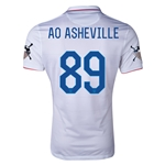 USA 14/15 American Outlaws AO ASHEVILLE Home Soccer Jersey
