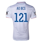 USA 14/15 American Outlaws AO Bryan/College Station Home Soccer Jersey