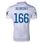 USA 14/15 American Outlaws AO BRONX Home Soccer Jersey