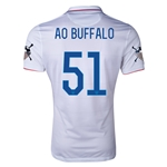 USA 14/15 American Outlaws AO BUFFALO Home Soccer Jersey