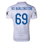 USA 14/15 American Outlaws AO BURLINGTON Home Soccer Jersey
