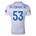 USA 14/15 American Outlaws AO CENTRAL NJ Home Soccer Jersey