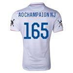 USA 14/15 American Outlaws AO CHAMPAIGN NJ Home Soccer Jersey