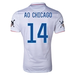 USA 14/15 American Outlaws AO CHICAGO Home Soccer Jersey