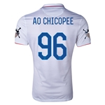 USA 14/15 American Outlaws AO CHICOPEE Home Soccer Jersey