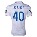 USA 14/15 American Outlaws AO CINCY Home Soccer Jersey