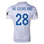 USA 14/15 American Outlaws AO CLEVELAND Home Soccer Jersey
