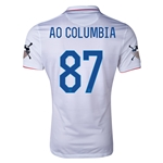 USA 14/15 American Outlaws AO COLUMBIA 87 Home Soccer Jersey