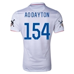 USA 14/15 American Outlaws AO DAYTON Home Soccer Jersey