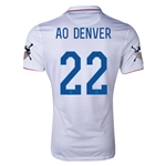 USA 14/15 American Outlaws AO DENVER Home Soccer Jersey