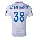 USA 14/15 American Outlaws AO DES MOINES Home Soccer Jersey