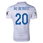 USA 14/15 American Outlaws AO DETROIT Home Soccer Jersey