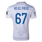 USA 14/15 American Outlaws AO EL PASO Home Soccer Jersey