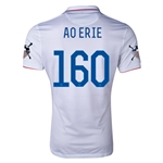 USA 14/15 American Outlaws AO ERIE Home Soccer Jersey