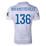 USA 14/15 American Outlaws AO FAYETTEVILLE Home Soccer Jersey