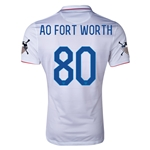 USA 14/15 American Outlaws AO FORT WORTH Home Soccer Jersey