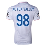 USA 14/15 American Outlaws AO FOX VALLEY Home Soccer Jersey