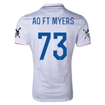 USA 14/15 American Outlaws AO FT. MYERS Home Soccer Jersey