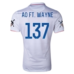USA 14/15 American Outlaws AO FT. WAYNE Home Soccer Jersey