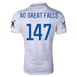 USA 14/15 American Outlaws AO GREAT FALLS Home Soccer Jersey