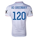 USA 14/15 American Outlaws AO GREEN BAY Home Soccer Jersey