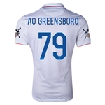 USA 14/15 American Outlaws AO GREENSBORO Home Soccer Jersey