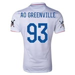 USA 14/15 American Outlaws AO GREENVILLE Home Soccer Jersey