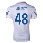USA 14/15 American Outlaws AO INDY Home Soccer Jersey