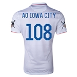 USA 14/15 American Outlaws AO IOWA CITY Home Soccer Jersey