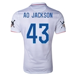 USA 14/15 American Outlaws AO JACKSON Home Soccer Jersey