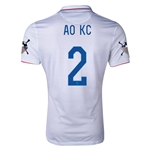 USA 14/15 American Outlaws AO KC Home Soccer Jersey