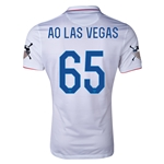 USA 14/15 American Outlaws AO LAS VEGAS Home Soccer Jersey