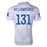 USA 14/15 American Outlaws AO LAWRENCE Home Soccer Jersey