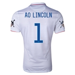 USA 14/15 American Outlaws AO LINCOLN Home Soccer Jersey