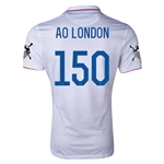 USA 2014 American Outlaws AO LONDON Home Soccer Jersey